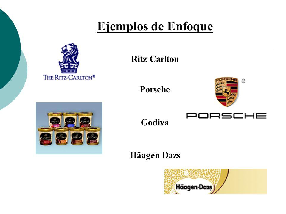 Ejemplos de Enfoque Ritz Carlton Porsche Godiva Häagen Dazs