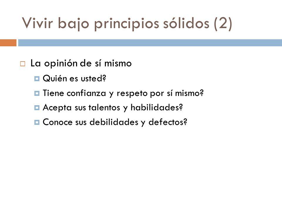 Actividades principales 1.