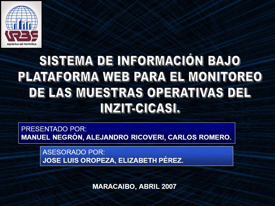 GENERAL Desarrollar un Sistema de Información bajo plataforma Web para el monitoreo de las muestras operativas del INZIT-CICASI.