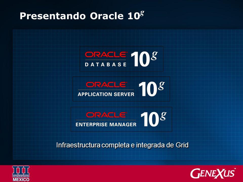 Presentando Oracle 10 g Infraestructura completa e integrada de Grid