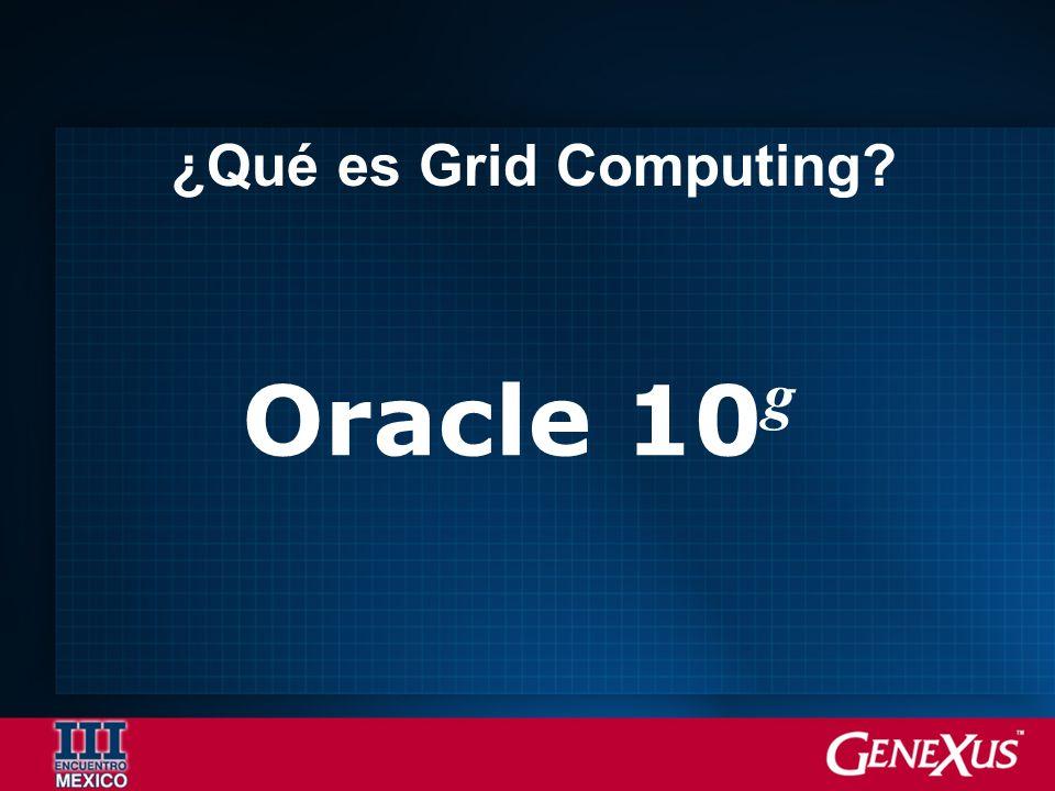 Oracle 10 g ¿Qué es Grid Computing?