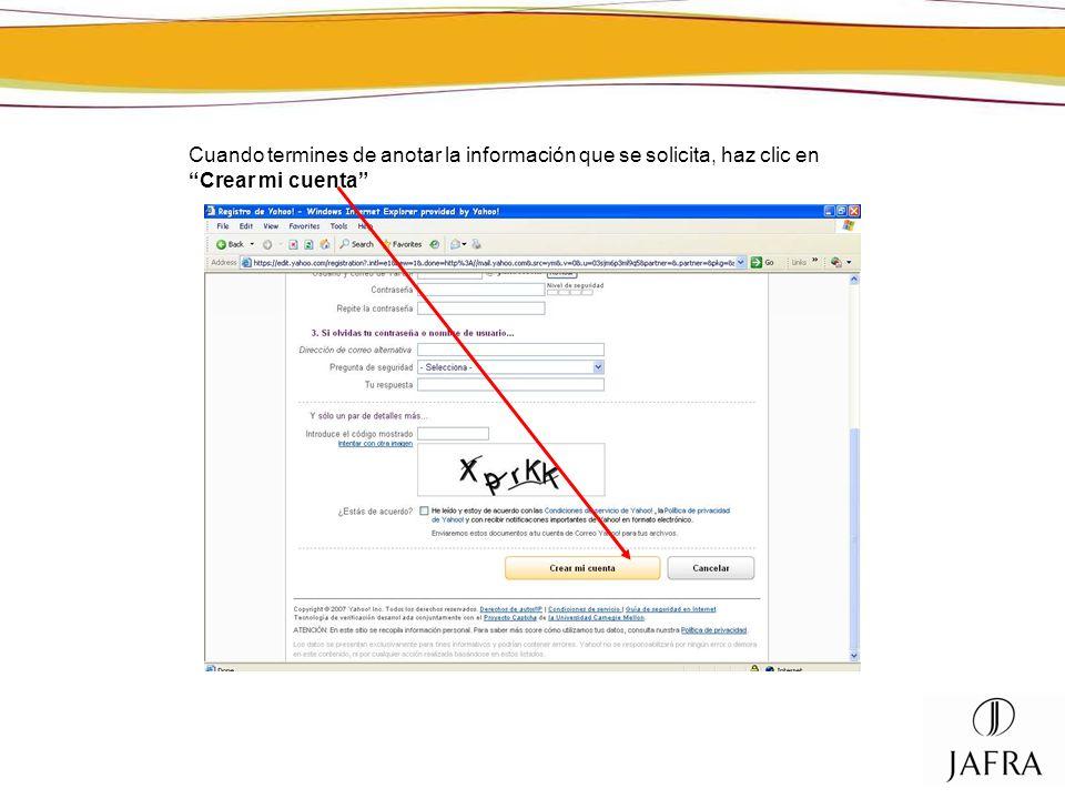 Así tu sección de Mi Cuenta estará actualizada con tu nueva dirección de correo electrónico.