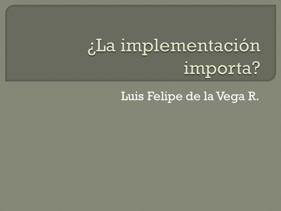 Fidelidad de la implementación: Grado de correspondencia entre los componentes críticos de un programa y el realmente implementado.