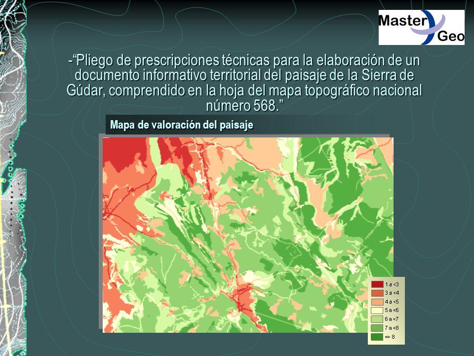 -Pliego de prescripciones técnicas para la elaboración de un documento informativo territorial del paisaje de la Sierra de Gúdar, comprendido en la ho