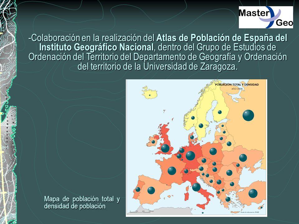 -Colaboración en la realización del Atlas de Población de España del Instituto Geográfico Nacional, dentro del Grupo de Estudios de Ordenación del Ter