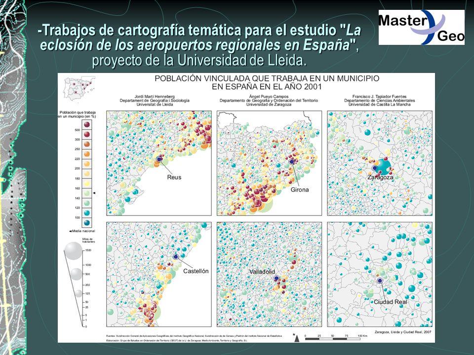 -Trabajos de cartografía temática para el estudio