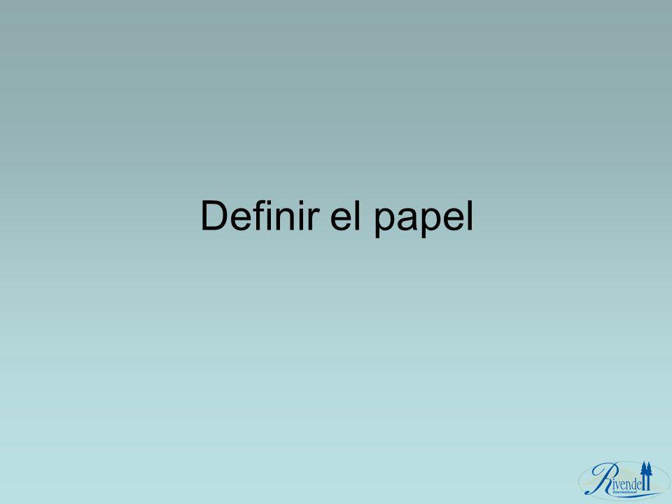 Definir el papel