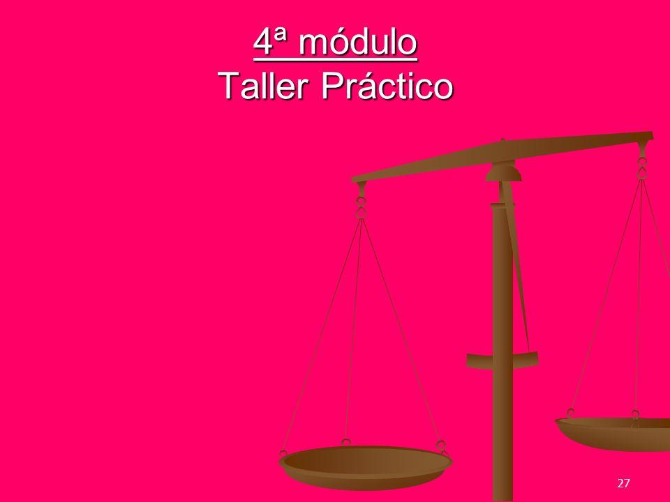 27 4ª módulo Taller Práctico