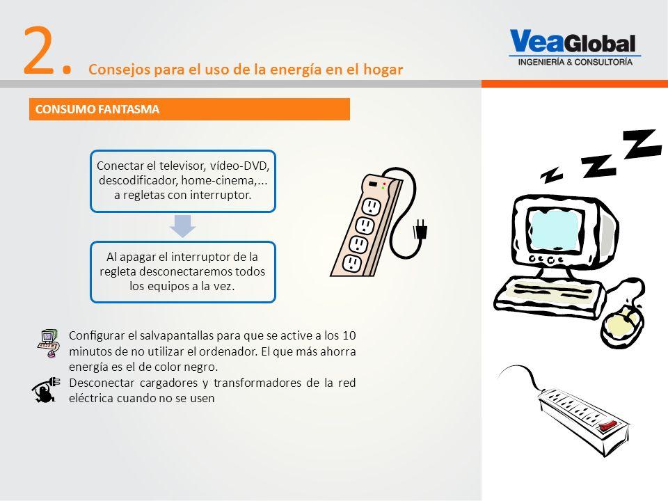 Conectar el televisor, vídeo-DVD, descodificador, home-cinema,... a regletas con interruptor. Al apagar el interruptor de la regleta desconectaremos t