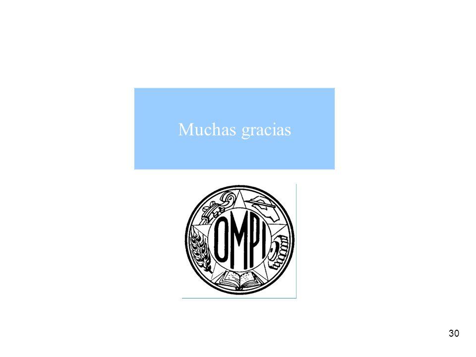 30 Muchas gracias