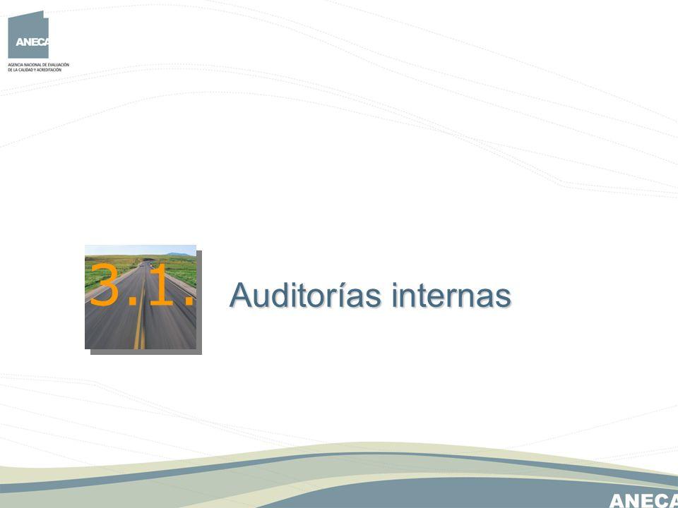 3.1. Auditorías internas Auditorías internas
