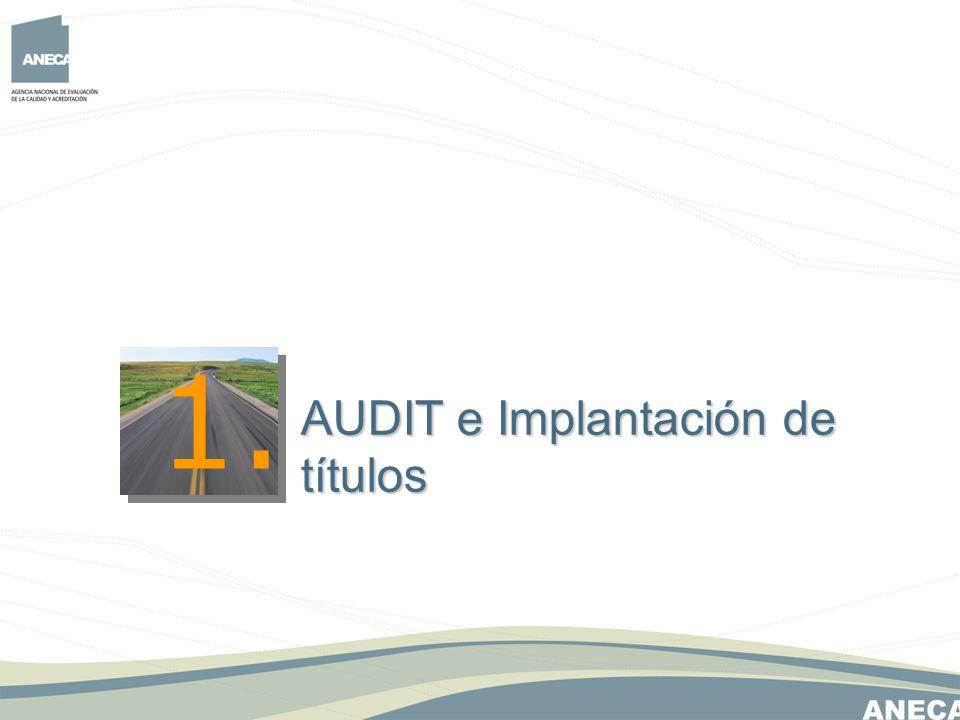 La implantación del diseño del SGIC bajo AUDIT es consecuente a la implantación del título.