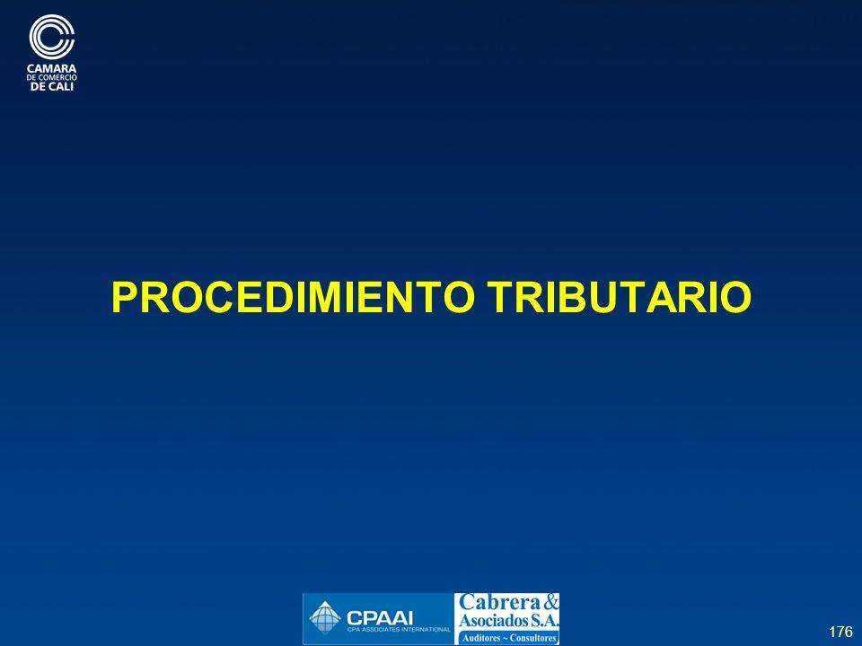 176 PROCEDIMIENTO TRIBUTARIO