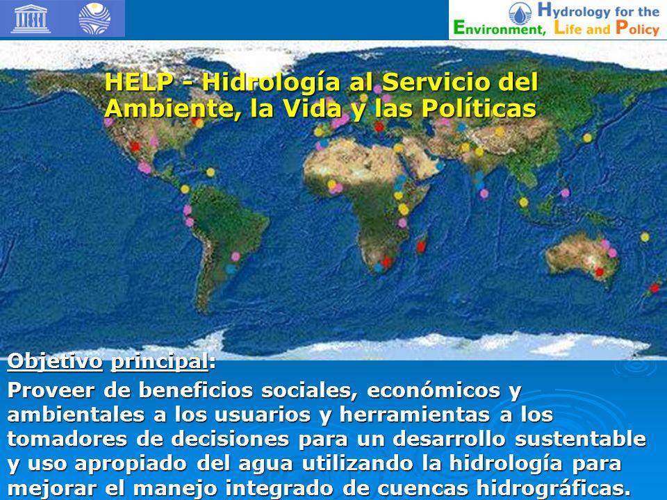 Objetivo principal: Proveer de beneficios sociales, económicos y ambientales a los usuarios y herramientas a los tomadores de decisiones para un desar