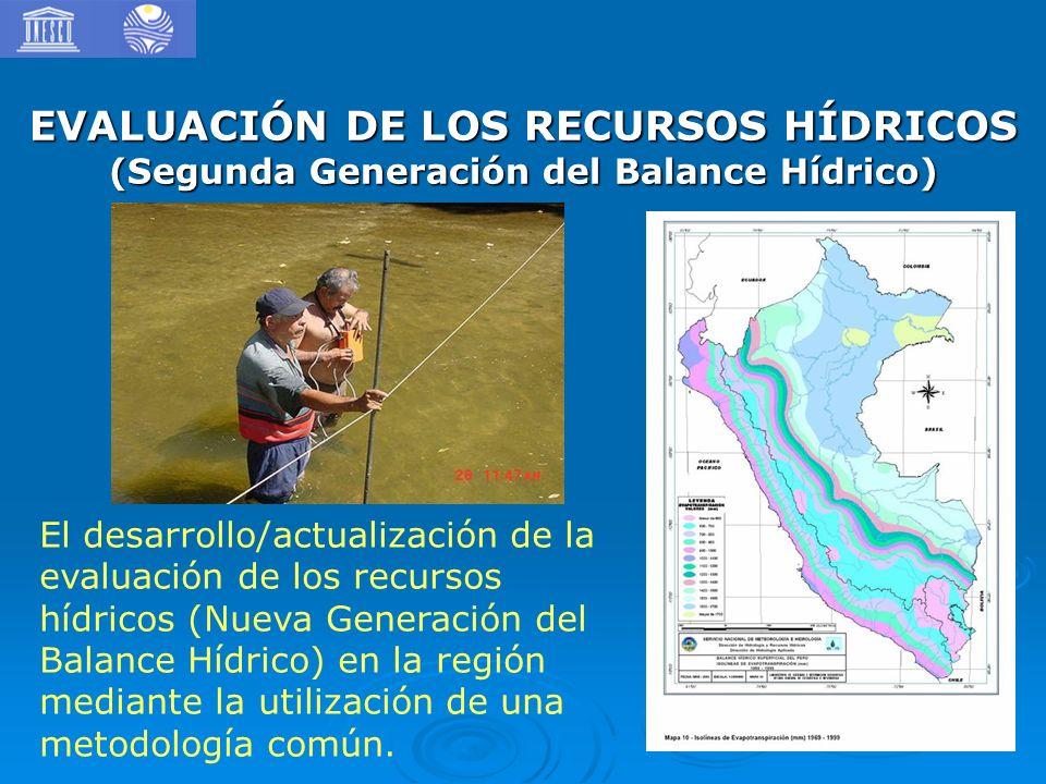 EVALUACIÓN DE LOS RECURSOS HÍDRICOS (Segunda Generación del Balance Hídrico) El desarrollo/actualización de la evaluación de los recursos hídricos (Nu