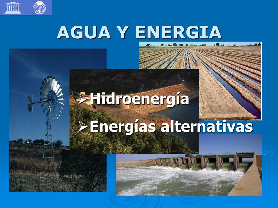 AGUA Y ENERGIA Hidroenergía Hidroenergía Energías alternativas Energías alternativas