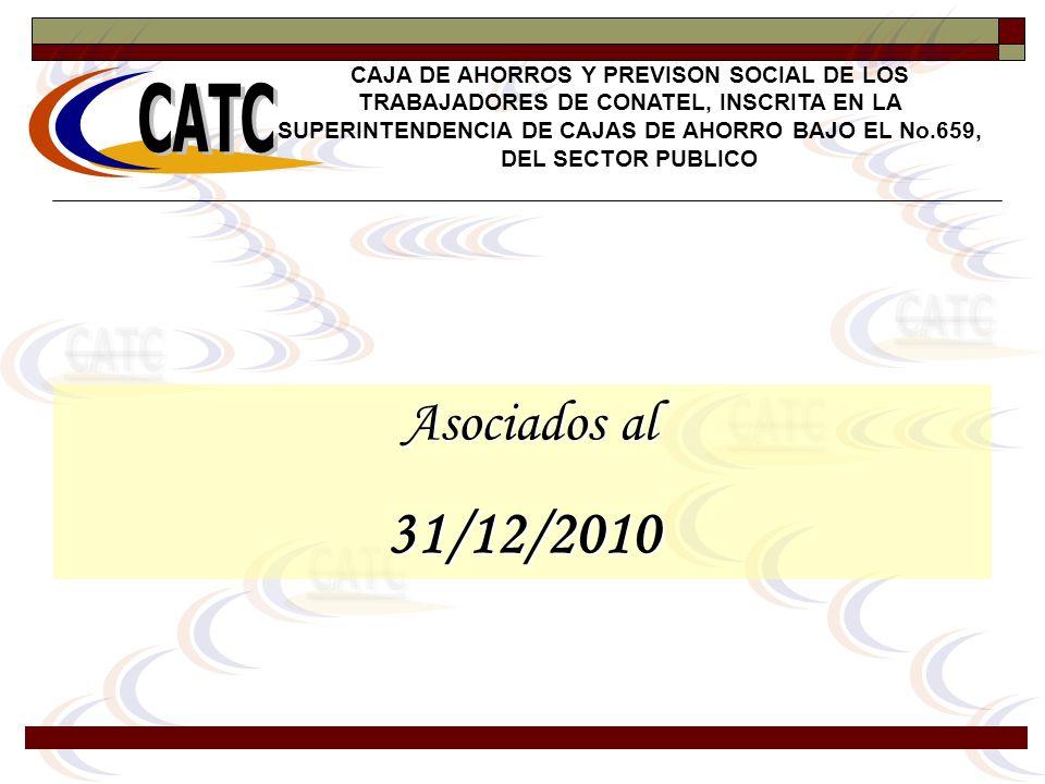 Asociados al Asociados al31/12/2010 CAJA DE AHORROS Y PREVISON SOCIAL DE LOS TRABAJADORES DE CONATEL, INSCRITA EN LA SUPERINTENDENCIA DE CAJAS DE AHOR