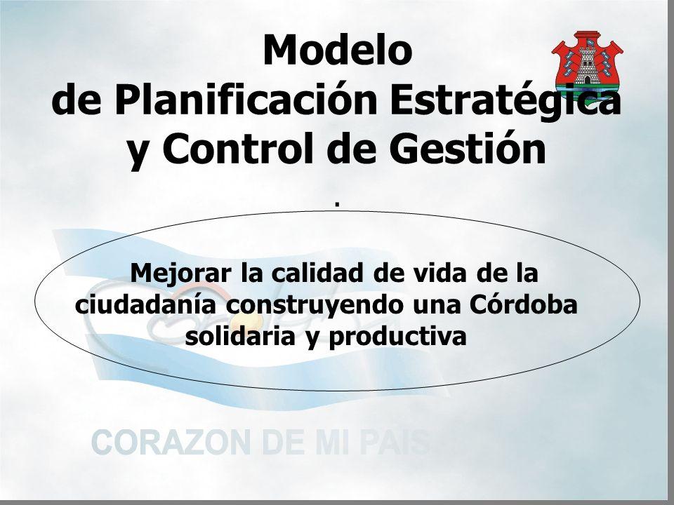 Modelo de Planificación Estratégica y Control de Gestión.