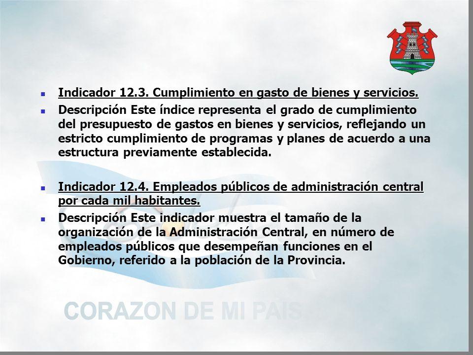 Indicador 12.3. Cumplimiento en gasto de bienes y servicios.