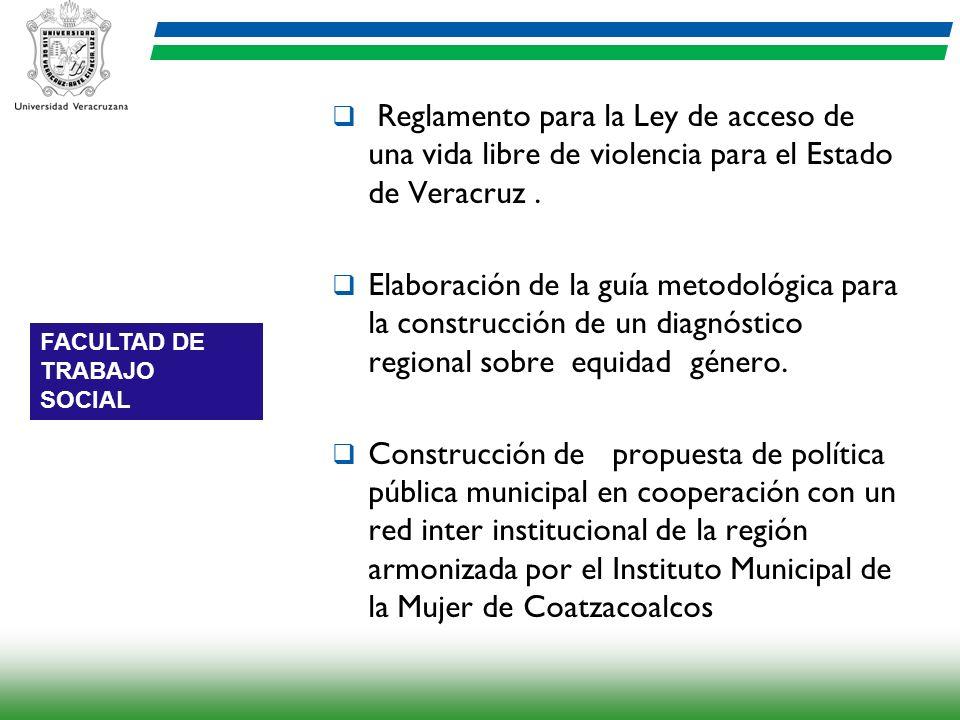 Reglamento para la Ley de acceso de una vida libre de violencia para el Estado de Veracruz. Elaboración de la guía metodológica para la construcción d