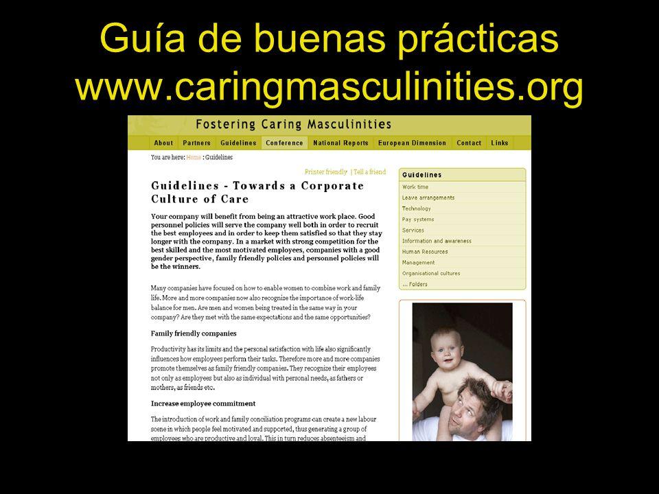 Guía de buenas prácticas www.caringmasculinities.org
