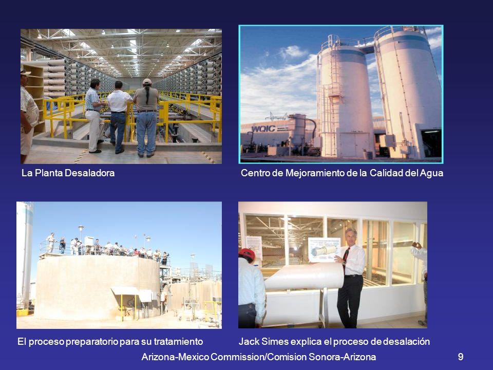 Arizona-Mexico Commission/Comision Sonora-Arizona9 La Planta Desaladora Centro de Mejoramiento de la Calidad del Agua El proceso preparatorio para su