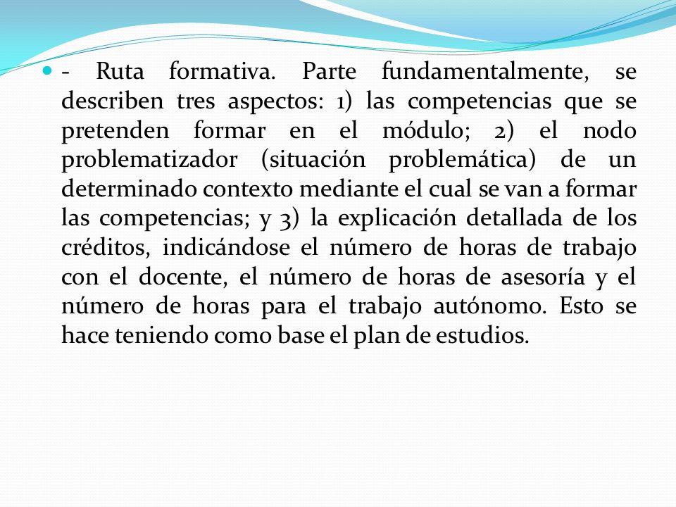 - Metodología de formación.