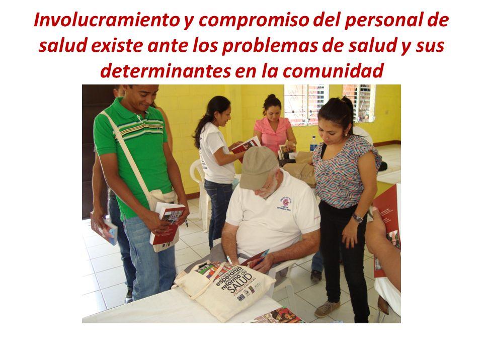 Involucramiento y compromiso del personal de salud existe ante los problemas de salud y sus determinantes en la comunidad