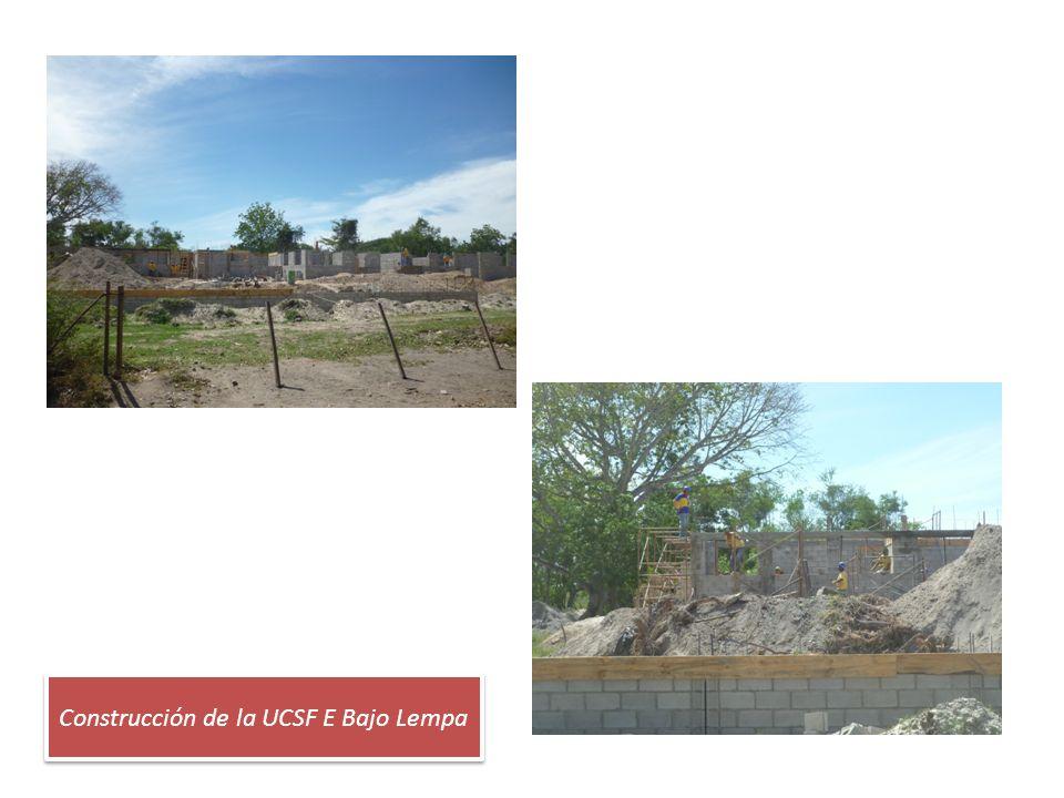 Construcción de la UCSF E Bajo Lempa