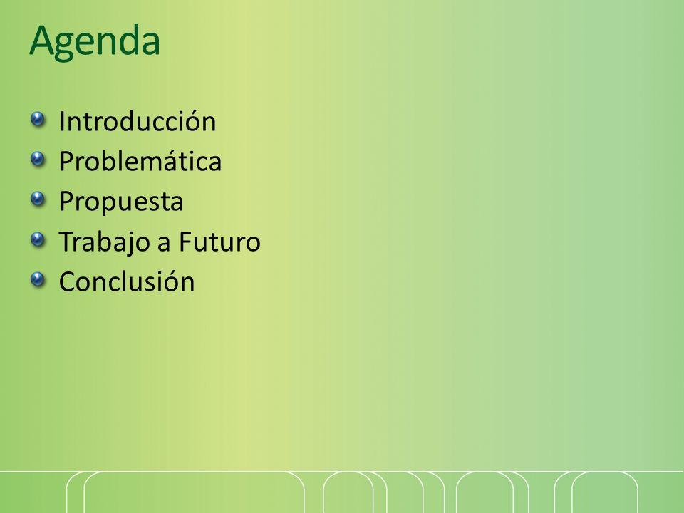 Agenda Introducción Problemática Propuesta Trabajo a Futuro Conclusión