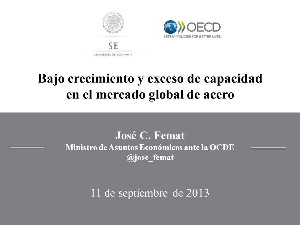 José C. Femat Ministro de Asuntos Económicos ante la OCDE @jose_femat 11 de septiembre de 2013 Bajo crecimiento y exceso de capacidad en el mercado gl