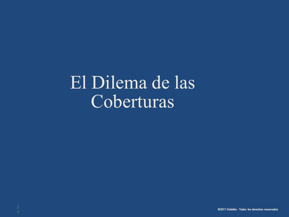 ©2011 Deloitte - Todos los derechos reservados. El Dilema de las Coberturas 27