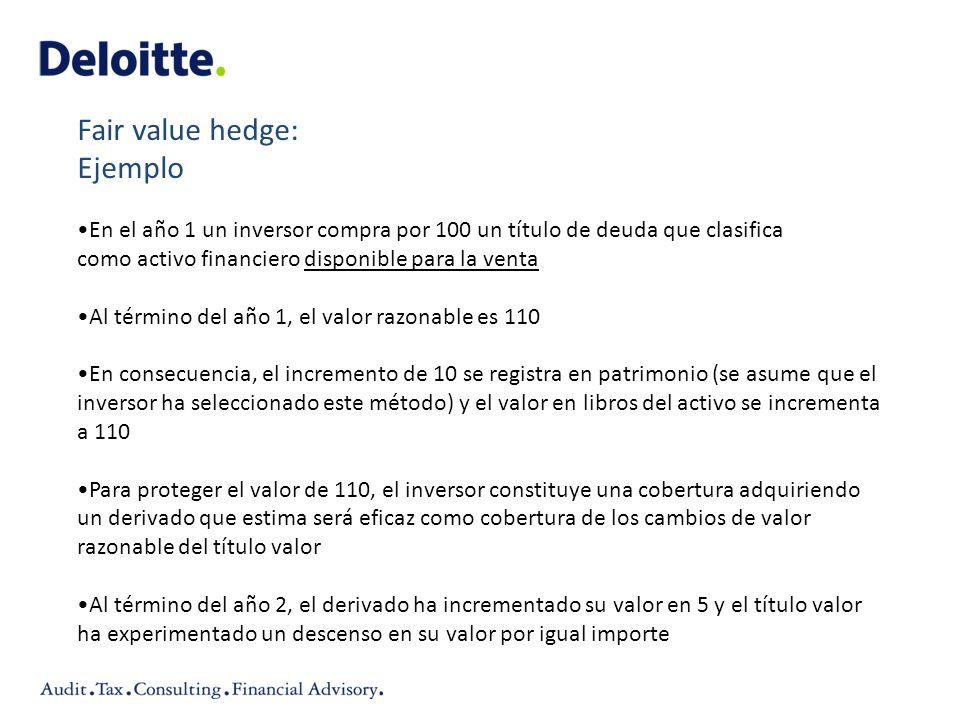 En el año 1 un inversor compra por 100 un título de deuda que clasifica como activo financiero disponible para la venta Al término del año 1, el valor