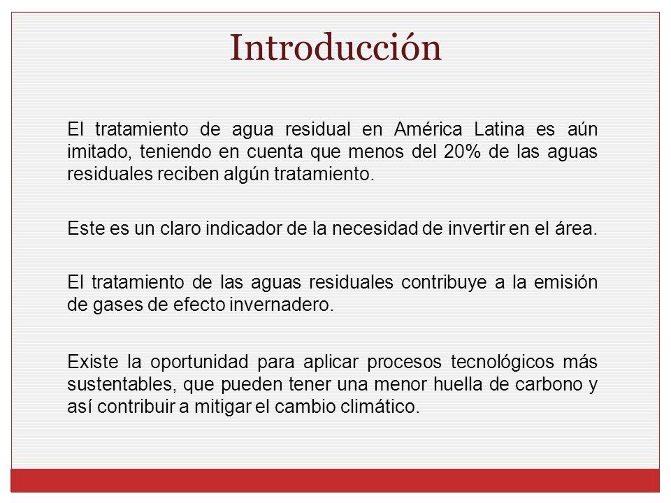 El tratamiento de agua residual en América Latina es aún imitado, teniendo en cuenta que menos del 20% de las aguas residuales reciben algún tratamien