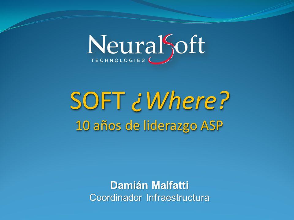 Damián Malfatti Coordinador Infraestructura SOFT ¿Where.