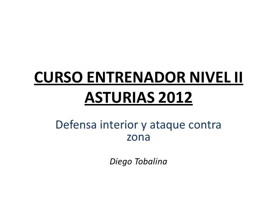 CURSO ENTRENADOR NIVEL II ASTURIAS 2012 Defensa interior y ataque contra zona Diego Tobalina
