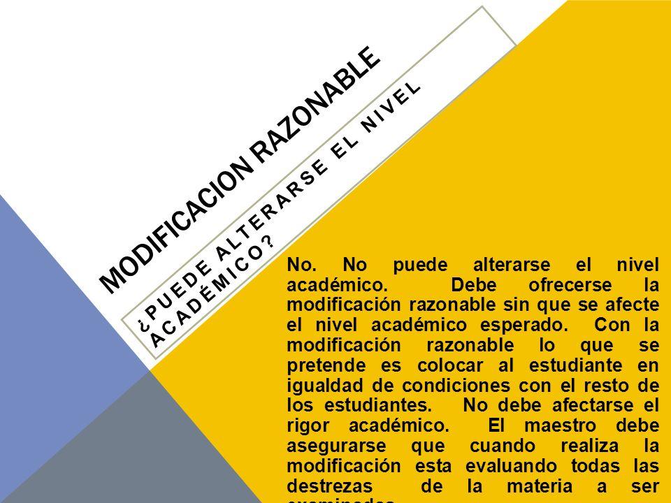 MODIFICACION RAZONABLE ¿CUÁL ES LA CONSIDERACIÓN PRIMORDIAL AL DETERMINAR EL ACOMODO.