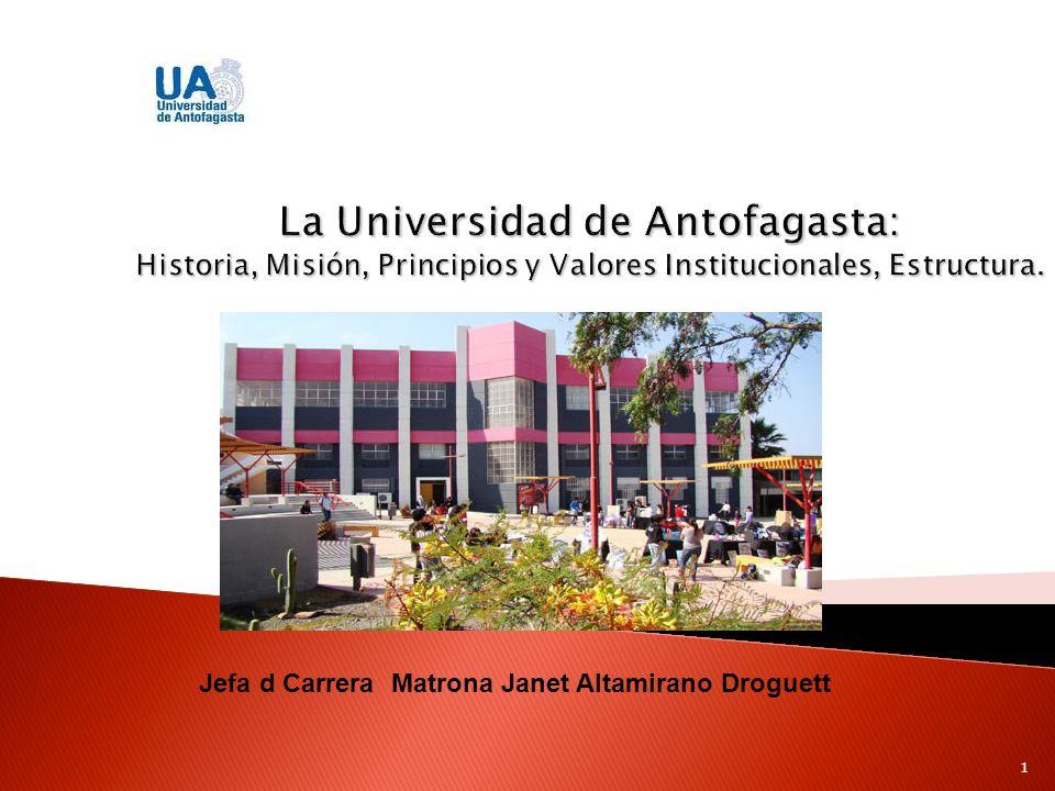 La Universidad de Antofagasta remonta sus inicios en 1918, bajo la formación del primer establecimiento educacional de la zona norte, bajo las necesidades de satisfacer puestos de mano de obra.
