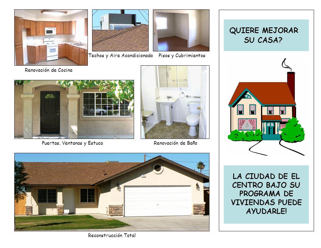 Renovación de Cocina Puertas, Ventanas y Estuco Techos y Aire Acondicionado Reconstrucción Total Renovación de Baño Pisos y Cubrimientos SU CASA.