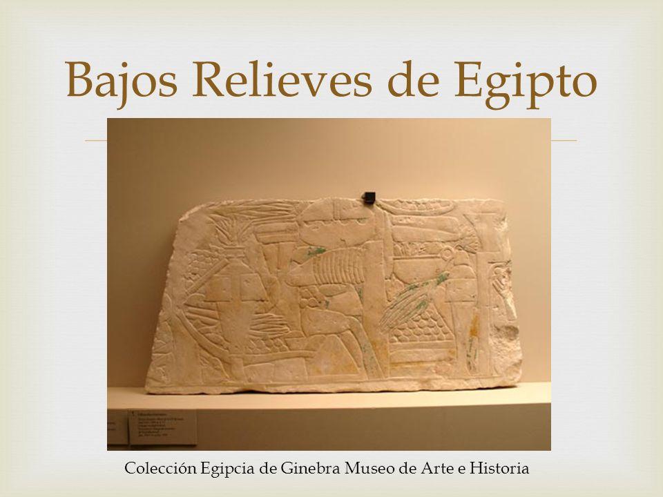 Bajos Relieves de Egipto Colección Egipcia de Ginebra Museo de Arte e Historia