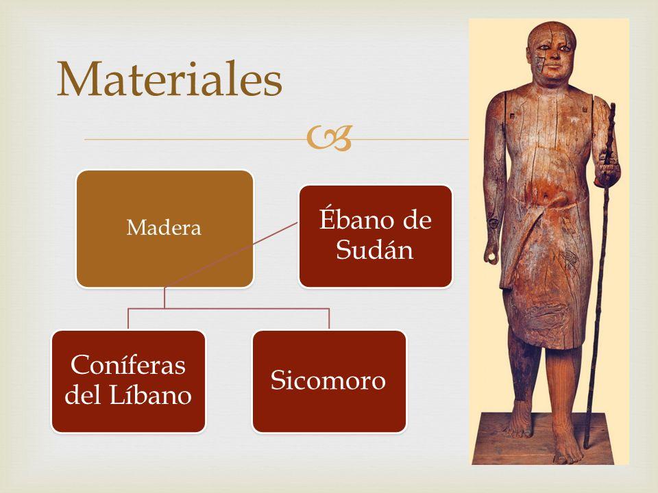 Madera Coníferas del Líbano Sicomoro Ébano de Sudán Materiales