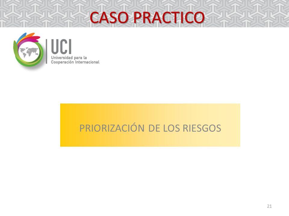 21 CASO PRACTICO PRIORIZACIÓN DE LOS RIESGOS