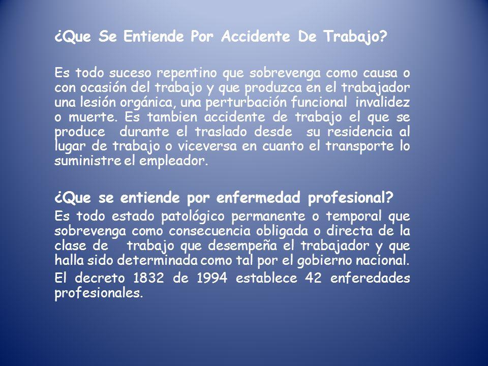 ¿Que Se Entiende Por Accidente De Trabajo.