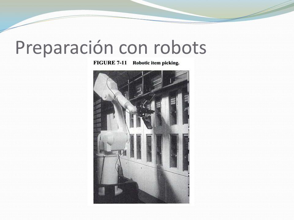 Preparación con robots