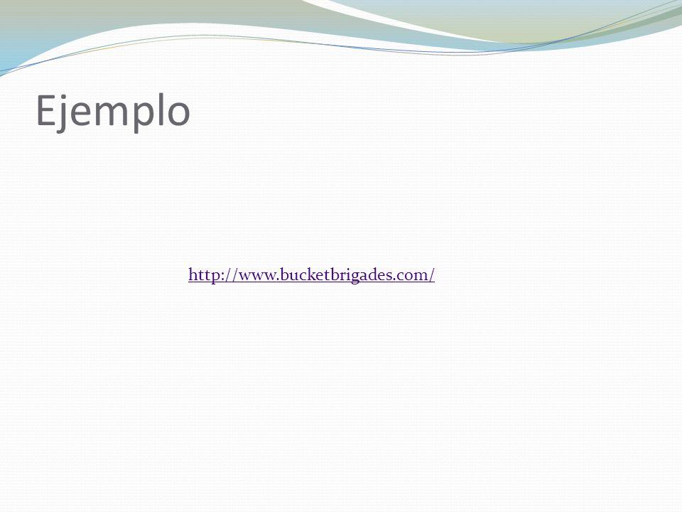Ejemplo http://www.bucketbrigades.com/