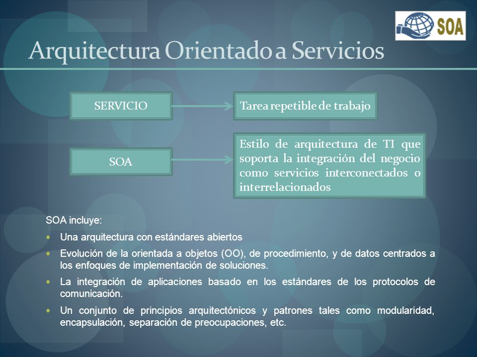 Webservice Los servicios Web pueden expresarse como una colección de estándares derivados de XML que facilitan la interoperabilidad de aplicaciones.