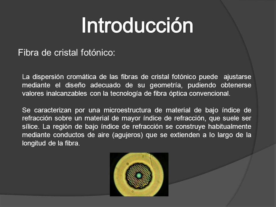 Fibra de cristal fotónico: La dispersión cromática de las fibras de cristal fotónico puede ajustarse mediante el diseño adecuado de su geometría, pudi