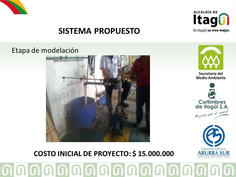 EMPRESA SISTEMA PROPUESTO Etapa de modelación COSTO INICIAL DE PROYECTO: $ 15.000.000