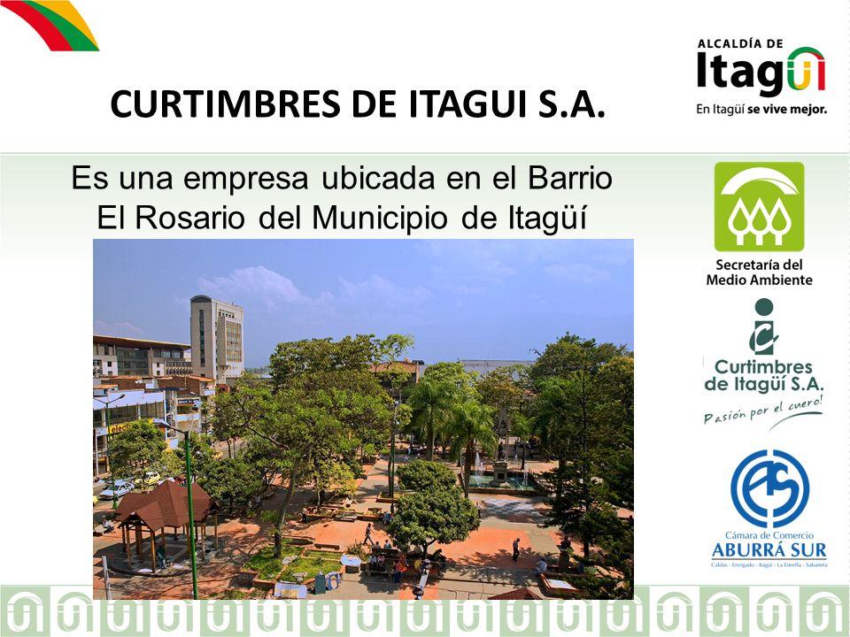CURTIMBRES DE ITAGUI S.A. EMPRESA Es una empresa ubicada en el Barrio El Rosario del Municipio de Itagüí