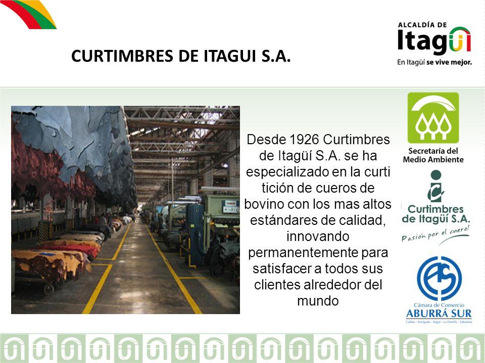 EMPRESA Desde 1926 Curtimbres de Itagüí S.A. se ha especializado en la curti tición de cueros de bovino con los mas altos estándares de calidad, innov